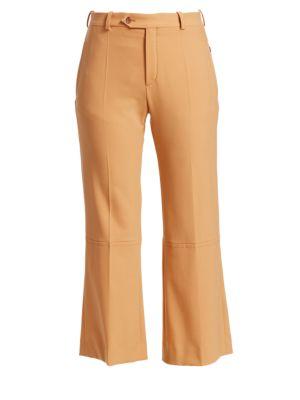High-Rise Stretch Wool Pants