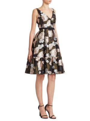 Belted Fit-And-Flare Dress