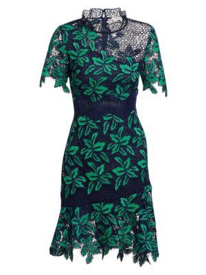 Mosaic Floral Crochet Dress