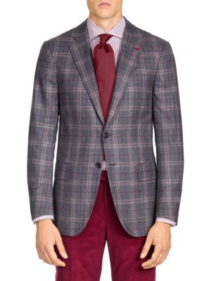 Classic-Fit Plaid Wool Sportcoat
