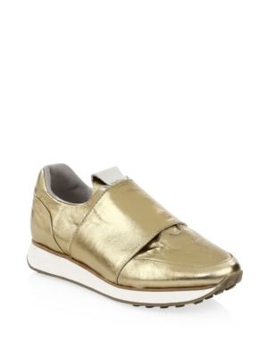 Dylan Metallic Leather Sneakers