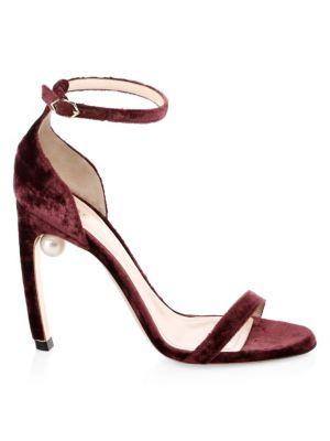 Mira Faux Pearl Stiletto Sandals