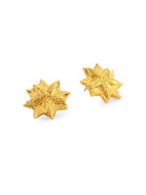 Sea Charm Button Earrings