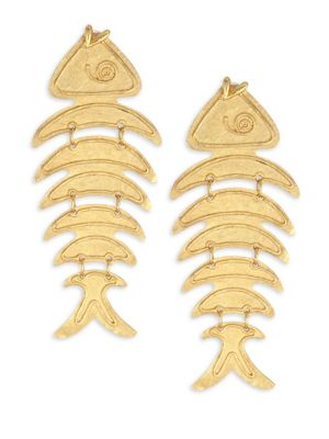 Bold Fish Drop Earrings