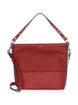 Small Blythe Leather Convertible Hobo Bag