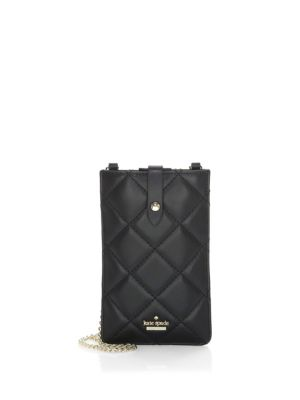 Quilted Leather Phone Crossbody Case