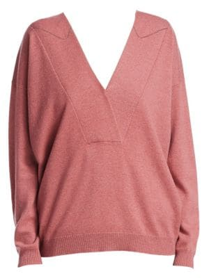 Two-Ply V-Neck Cashmere Sweater