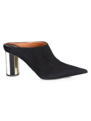 Point Toe Suede Mules