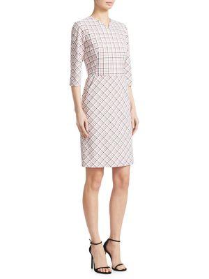 Check-Print Sheath Dress