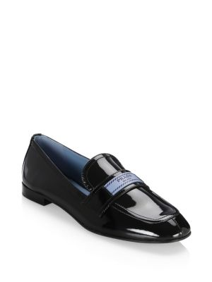 Logo Patent Leather Loafers