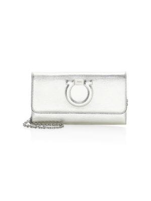 Argento Metallic Leather Mini Purse