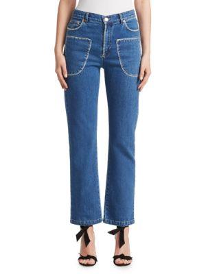 Stitched Denim Jeans