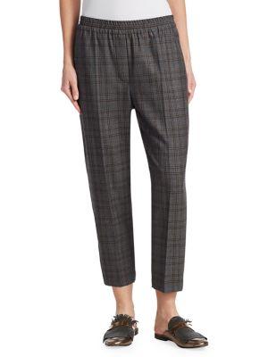 Plaid Wool Pants
