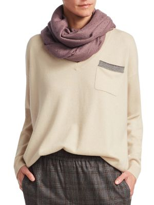 Cashmere Silk Sequin Scarf