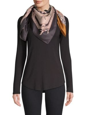 Charlotte Foulard Tonal Silk Scarf