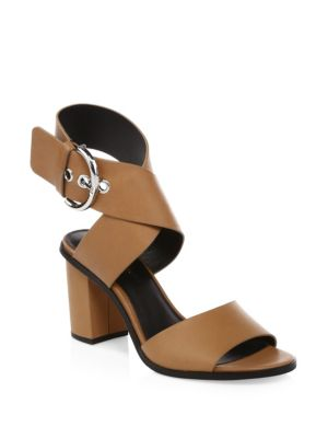 Valaree Leather Ankle-Strap Sandals