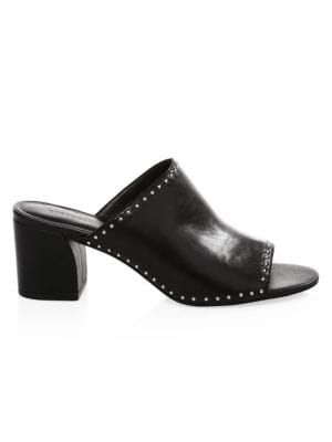 Lainy Studded Leather Mules by Rebecca Minkoff