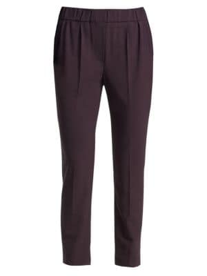 Stretch Wool Ankle Pants
