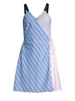 Edilha Stripe Wrap Dress