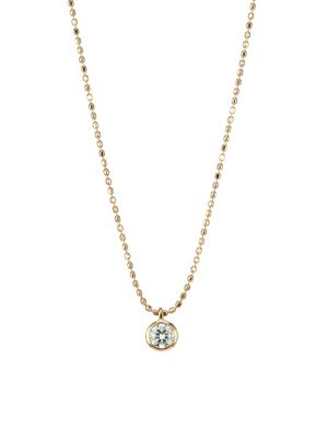 GINETTE NY Lonely Diamond Pendant Necklace