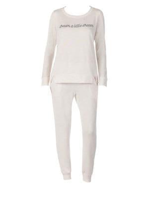 KATE SPADE Two-Piece Heathered Dream Pajama Set
