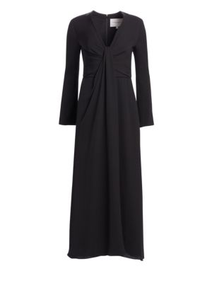 CAROLINA HERRERA Deep V-Neck Cocktail Dress