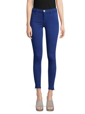 Super Skinny Raw-Cuff Jeans