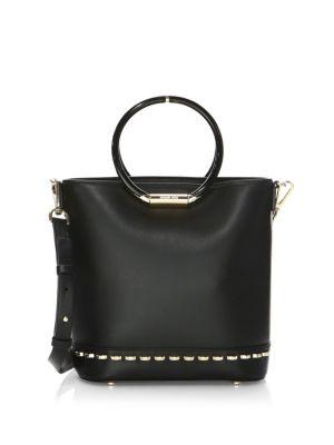 Medium Leather Bucket Bag