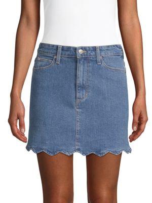 Bella High-Rise A-Line Denim Skirt