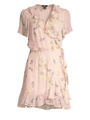 Cardamom Ruffle Wrap Dress