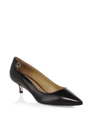 Elizabeth Leather Kitten Heels