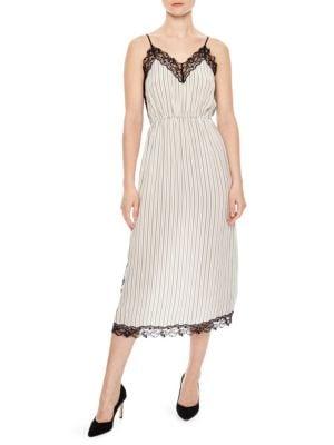 Sunset Pitt Pinstripe Midi Dress
