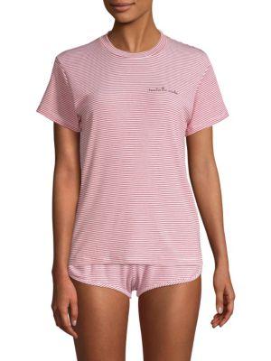 MAISON DU SOIR Toute De Suite Stripe Pajama Top