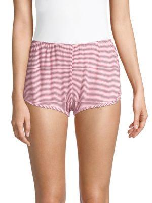 MAISON DU SOIR Penny Striped Stretch Shorts