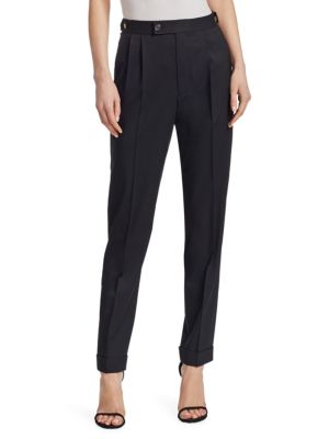 Pleated Tapered Pants by Helmut Lang