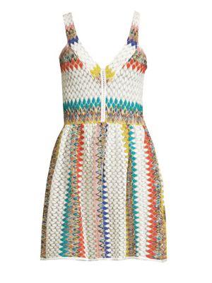Jacquard Striped Short Dress