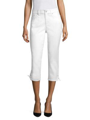 Lace-Up Capri Jeans