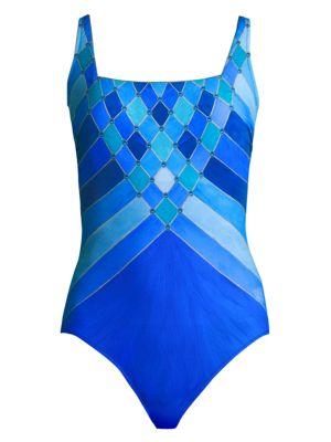 GOTTEX SWIM Mystic Gem Squareneck One-Piece Swimsuit