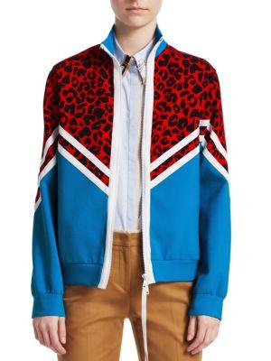 Donna Leopard Print Track Jacket
