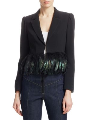 HELEN FEATHER-HEM BLAZER