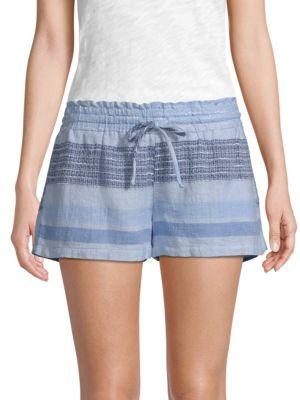 Striped Chambray Shorts