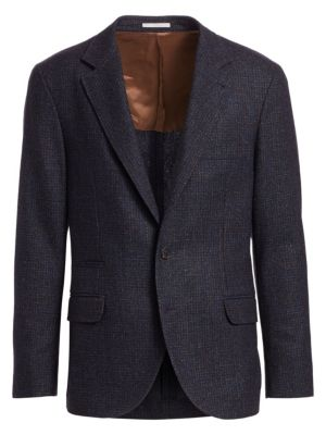 Textured Notch Lapel Sportcoat