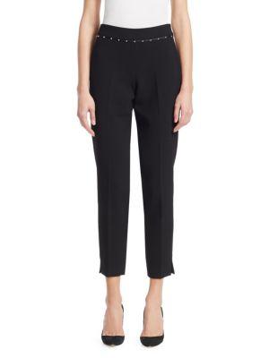 Studded-Waist Pants