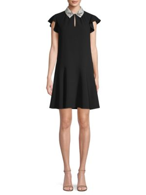 Embellished Collar Flounce Dress by Rebecca Taylor