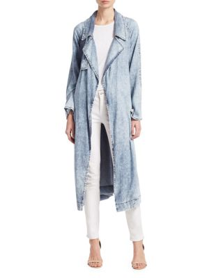 Acid Wash Chambray Trench by Sea