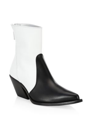 GIVENCHY Color Block Leather Cowboy Boots