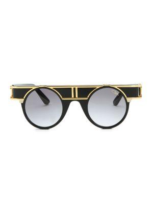 CAZAL   42MM Modified Round Sunglasses   Goxip