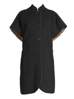 Reversible Wool Cape Coat