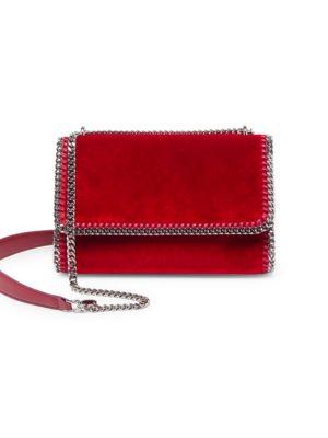 Falabella Velvet Shoulder Bag by Stella Mc Cartney