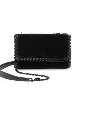 Small Falabella Velvet Shoulder Bag